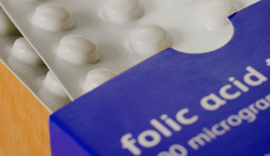 folic acid box and pills