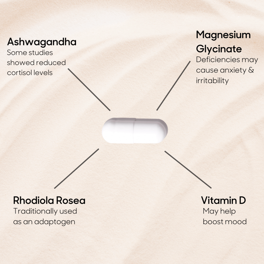 4 ingredients you can try in a supplement that may help you manage stress.